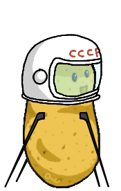 Spud-nik, the first Potato in space (By Trinsec)